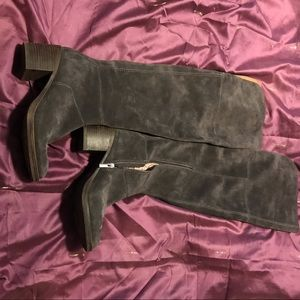 Grey Suede Lucky Brand Over The Knee Boots Size 9